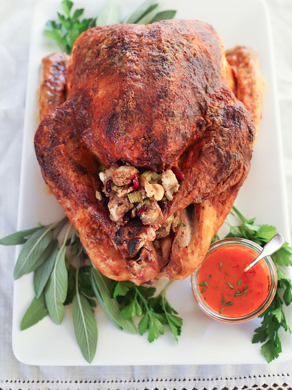 Buffalo Oven Roasted Turkey | foodiecrush.com #oven #recipes #thanksgiving