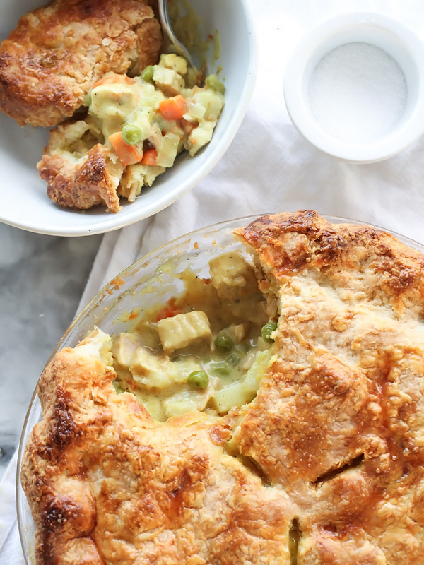 Curry Turkey Pot Pie and Homemade Butter Pie Crust on foodiecrush.com