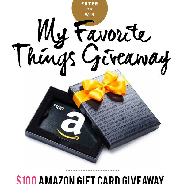 FoodieCrush Favorite Things Giveaway $100 Amazon Gift Card