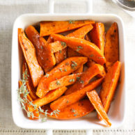 Maple Buttered Sweet Potatoes on foodiecrush.com