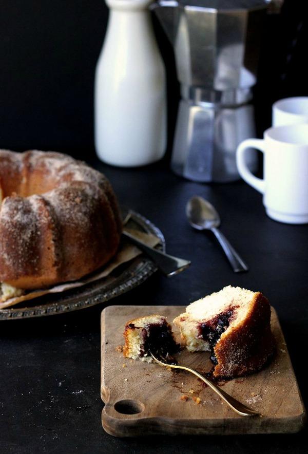 Blackberry Jam Donut Bundt Cake from hungrygirlporvida.com on foodiecrush.com