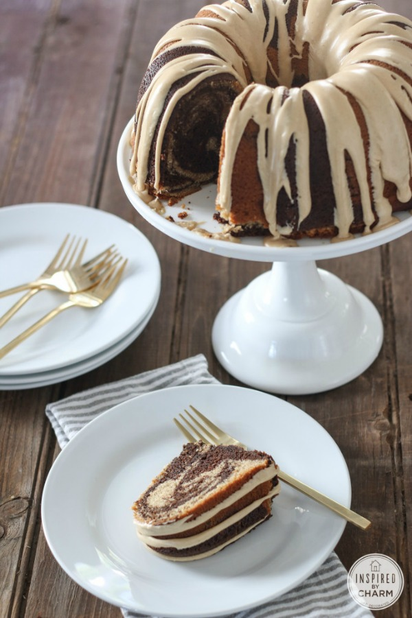 Chocolate Peanut Butter Cake from inspiredbycharm.com on foodiecrush.com