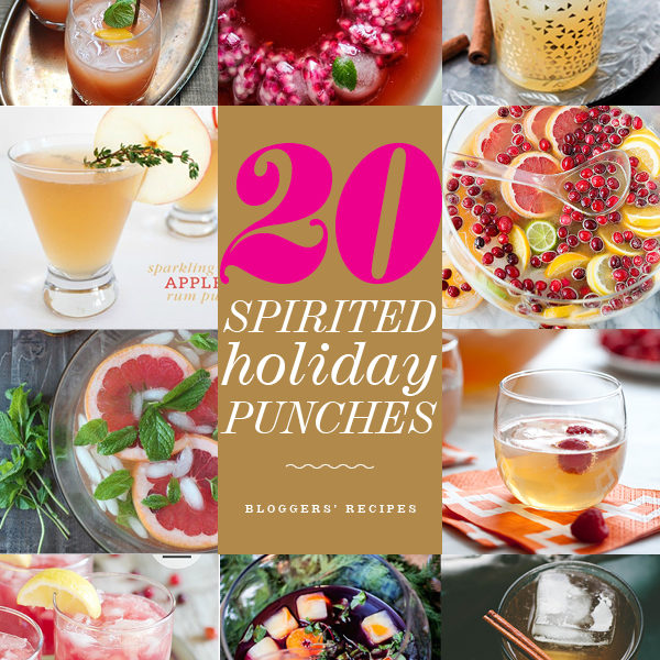 20 Holiday Punches foodiecrush.com
