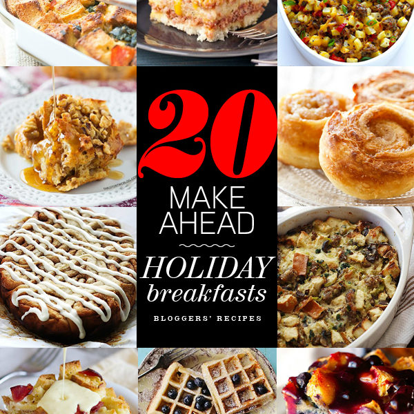 20 Make Ahead Breakfasts | foodiecrush.com