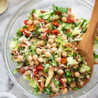 Italian Chopped Salad with Marinated Chickpeas on foodiecrush.com
