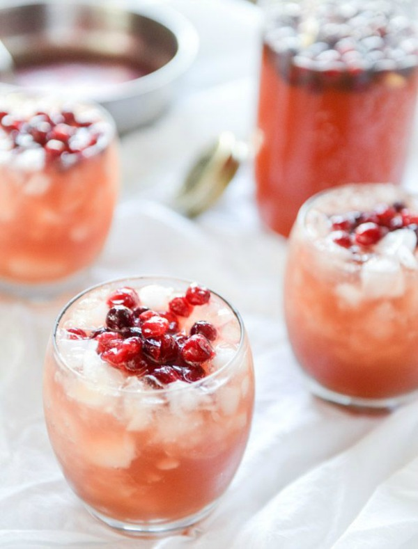 Cranberry Cider Punch from howsweeteats.com on foodiecrush.com