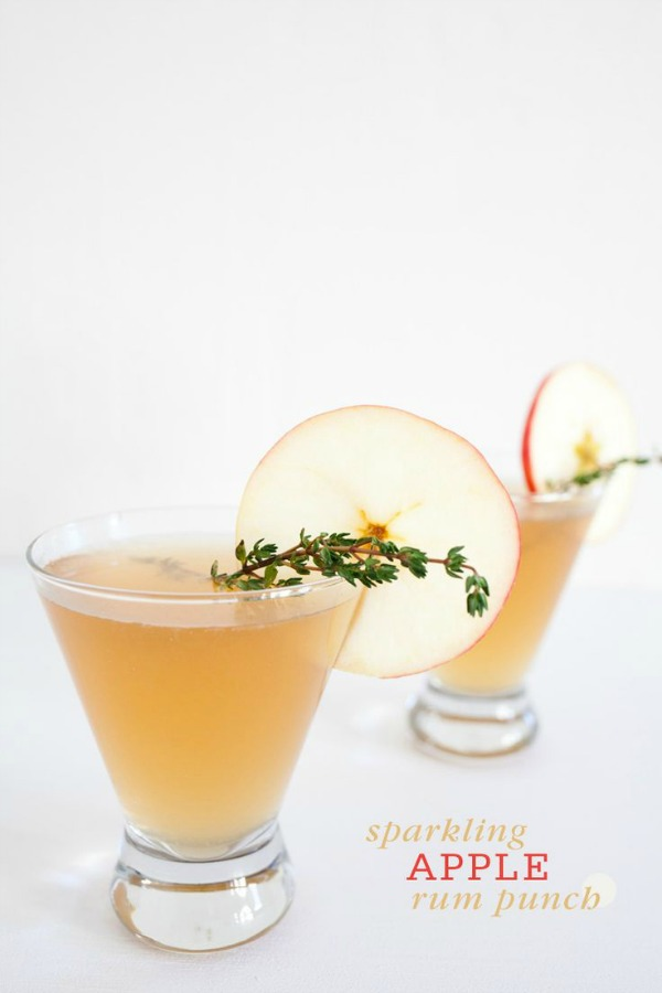 Sparkling Apple Rum Punch from fruitcake.com on foodiecrush.com