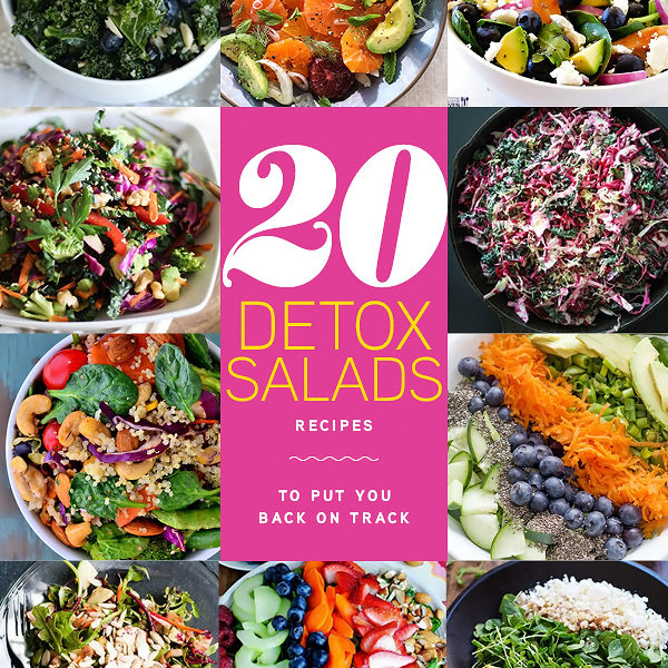 20 Detox Salads to Put You Back On Track | foodiecrush.com
