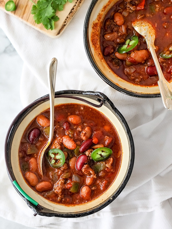 Killer Beef and Bean Chili | foodiecrush.com