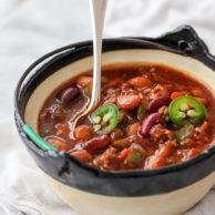 Killer Beef and Three Bean Chili | foodiecrush.com