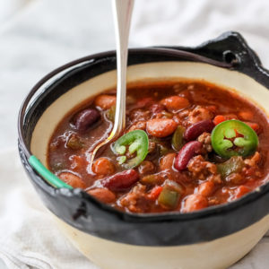 Killer Beef and Three Bean Chili | foodiecrush.com