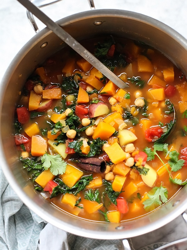 Moroccan Soup With Kale And Chickpeas Foodiecrush Com