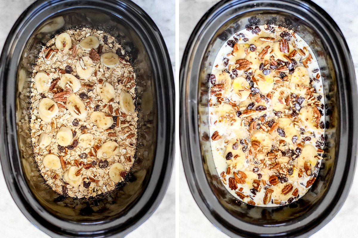 Slow Cooker Baked Oatmeal on foodiecrush.com