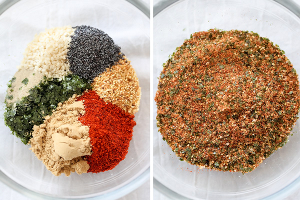 Japanese 7 Spice ingredients