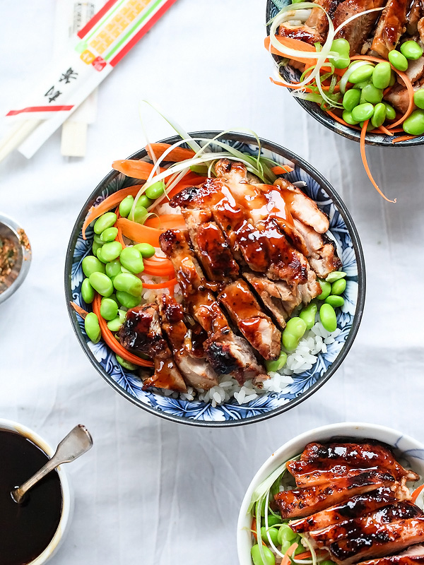 teriyaki chicken and rice bowls