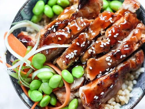 7 Spice Teriyaki Chicken Bowls Foodiecrush Com
