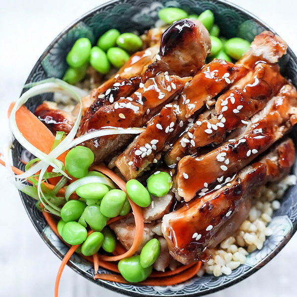 7 Spice Teriyaki Chicken Rice Bowls | foodiecrush.com