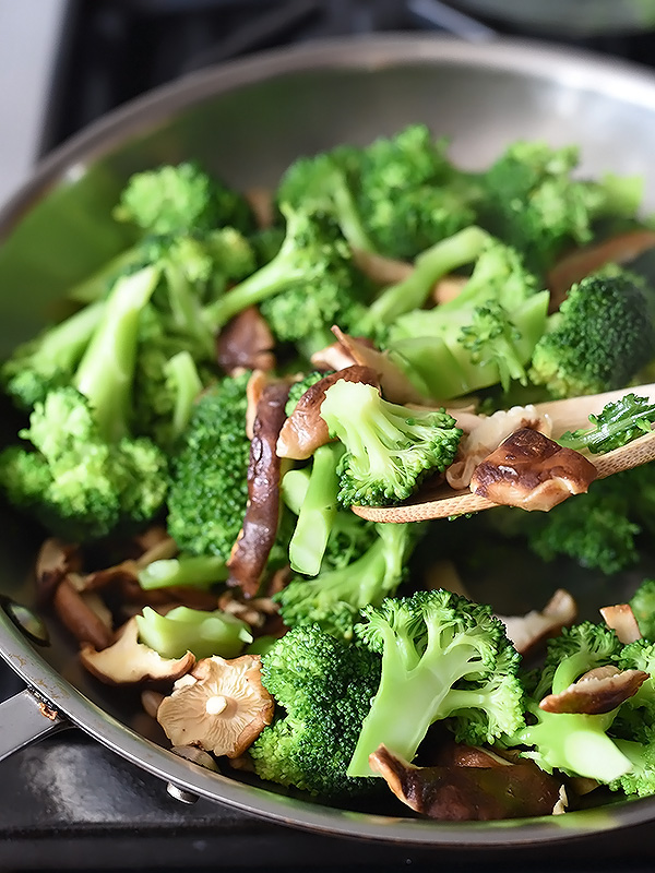 Asian Broccoli and Shiitake Mushrooms Sauté | foodiecrush.com