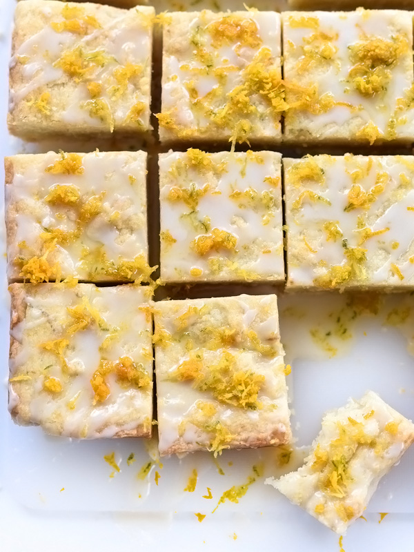 Citrus Butter Squares | foodiecrush.com