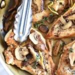 Chicken Breasts with Creamy Mushroom Sauce | foodiecrush.com