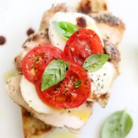 Grilled Chicken Caprese Sandwich | foodiecrush.com