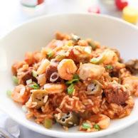 Chicken, Sausage and Shrimp Jambalaya | foodiecrush.com