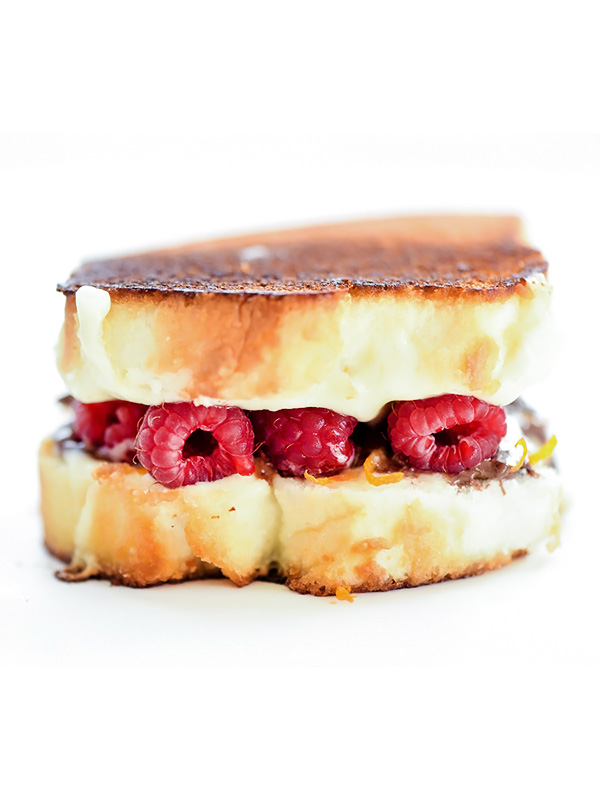 Raspberry and Chocolate Grilled Cheese   foodiecrush.com