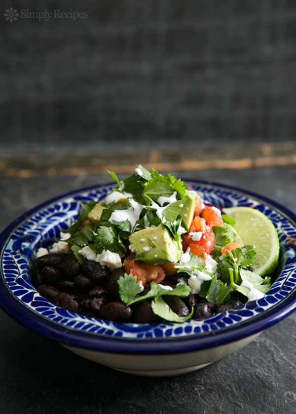 Black Bean Burrito Bowl from simplyrecipes.com on foodiecrush.com