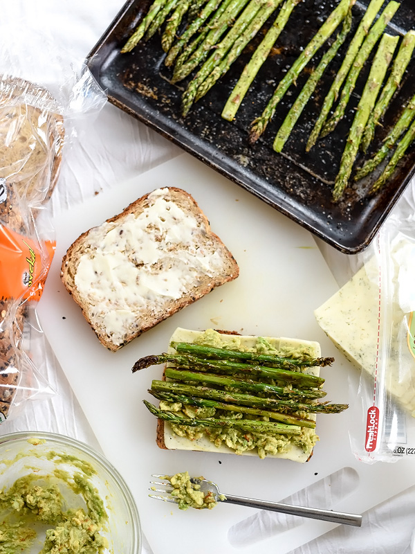 Spicy Smashed Avocado & Asparagus with Dill Havarti Grilled Cheese   foodiecrush.com