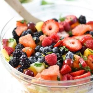 Berry Delicious Fruit Salad | foodiecrush.com