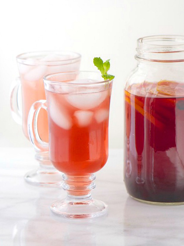 Green Tea Hibiscus Tea namelymarly.com | foodiecrush.com