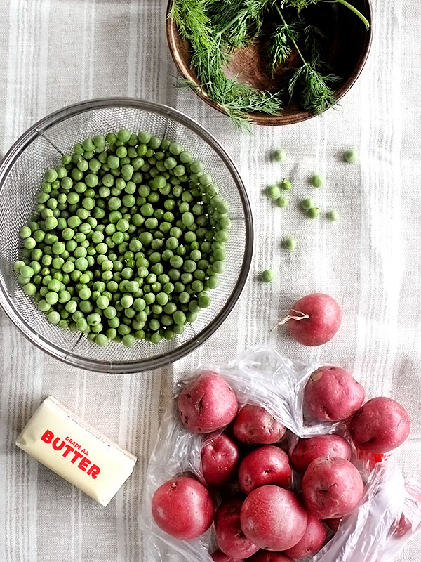 Dilled Red Potatoes and Peas | foodiecrush.com
