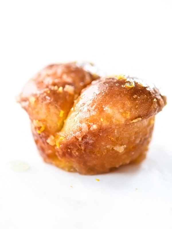 Sticky Glazed Lemon Buns | foodiecrush.com #baking #recipe #sugar