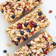 Almond Butter Power Bars | foodiecrush.com