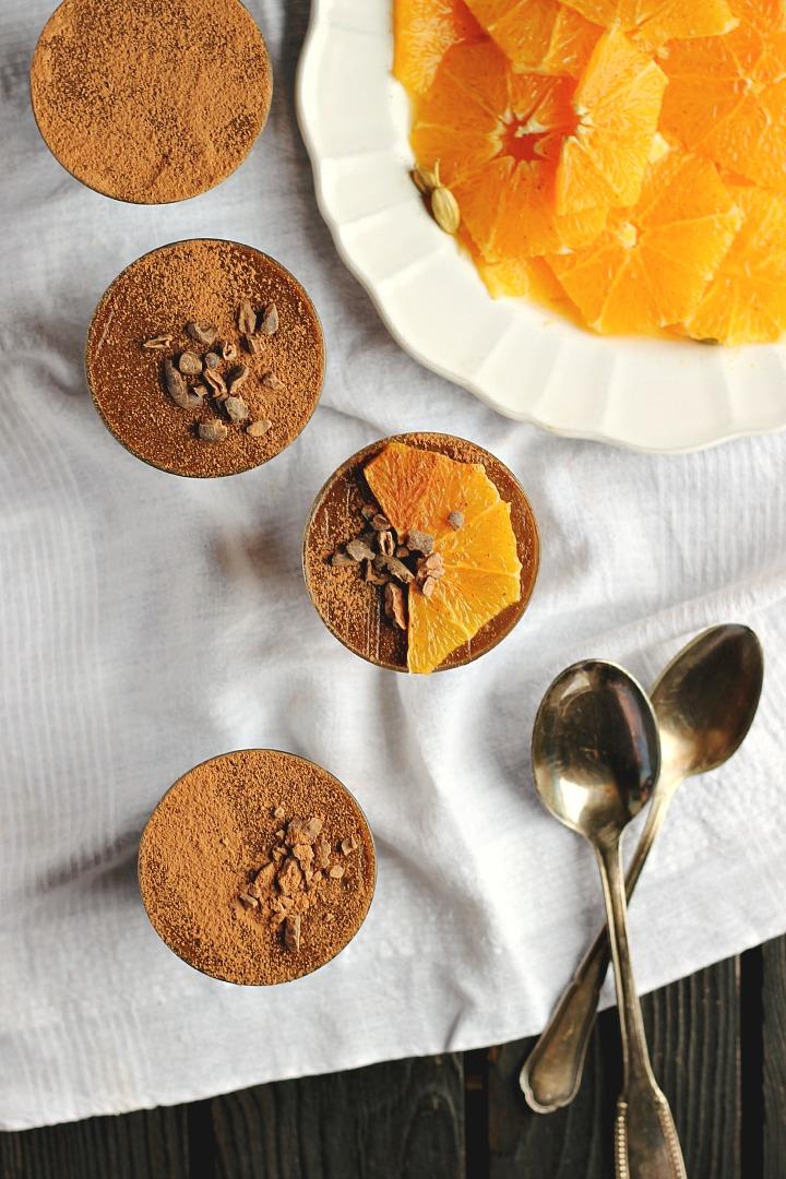 Raw Chocolate Mousse + Marinated Oranges happyheartedkitchen.com | foodiecrush.com