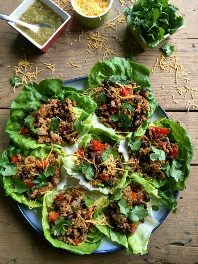 Mexican Turkey LEttuce Wrap acedarspoon.com | foodiecrush.com