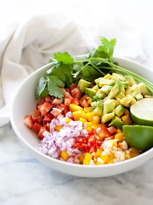 Mango Salsa | foodiecrush.com #recipe #easy #avocado
