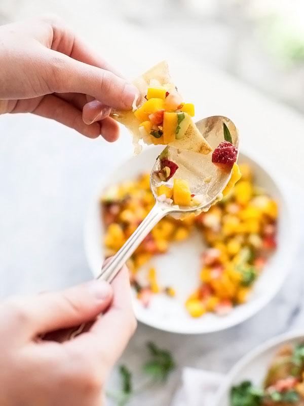 Mango Salsa foodiecrush.com