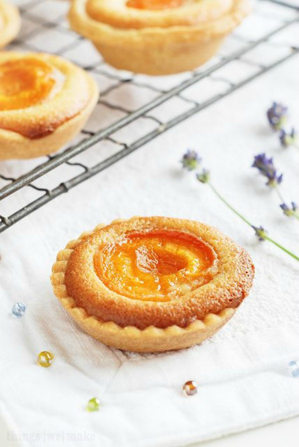 Honeyed Apricot Tarts from thingswemake.co.uk on foodiecrush.com