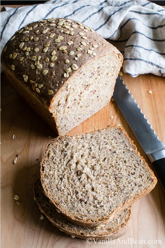 Multigrain Bread vanillaandbean.com | foodiecrush.com