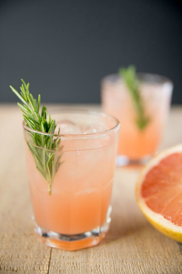 Rosemary Greyhound Cocktail from tasteslovely.com on foodiecrush.com