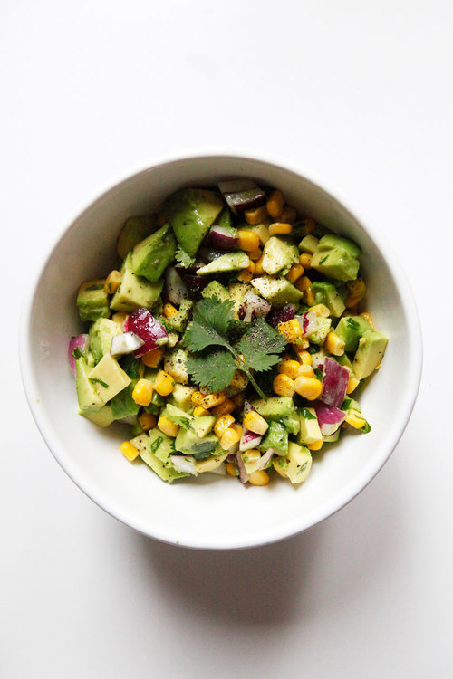 Avocado+corn+salsa Freckle&Fair.com | foodiecrush.com
