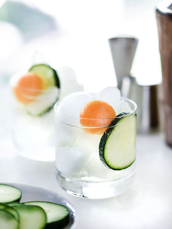 Cucumber Delight Cocktail | foodiecrush.com #vodka #recipes #summerdrinks #simplesyrup