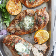 Grilled Chicken with Chive and Herb Butter foodiecrush.com