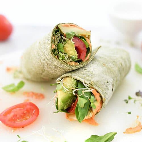 Alice Ricetta Tortillas.Hummus Veggie Wraps Accidentally Vegan Wraps Foodiecrush Com