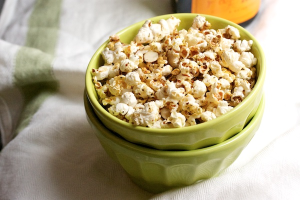 Herb and Lemon Buttered Popcorn from Big Girls Small Kitchen on foodiecrush.com