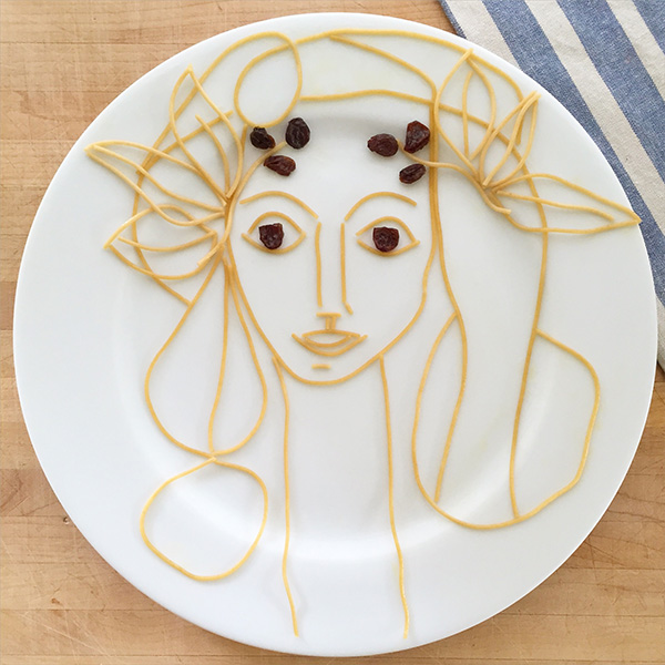 Picasso as food art by Marie Saba on foodiecrush.com