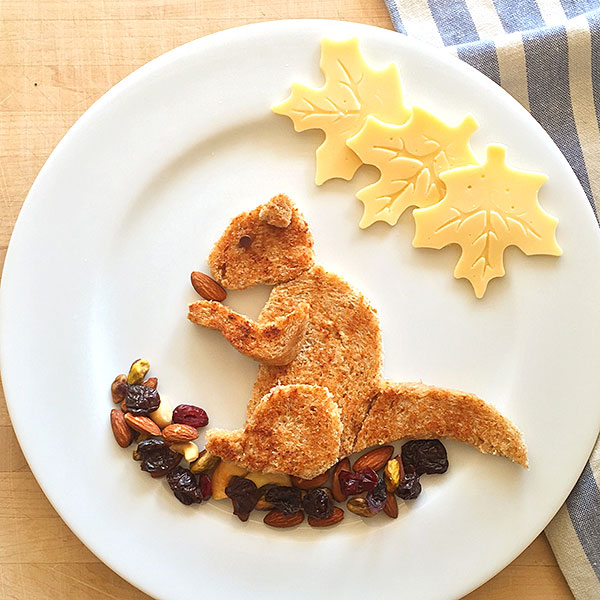 Squirrel as food art by Marie Saba on foodiecrush.com