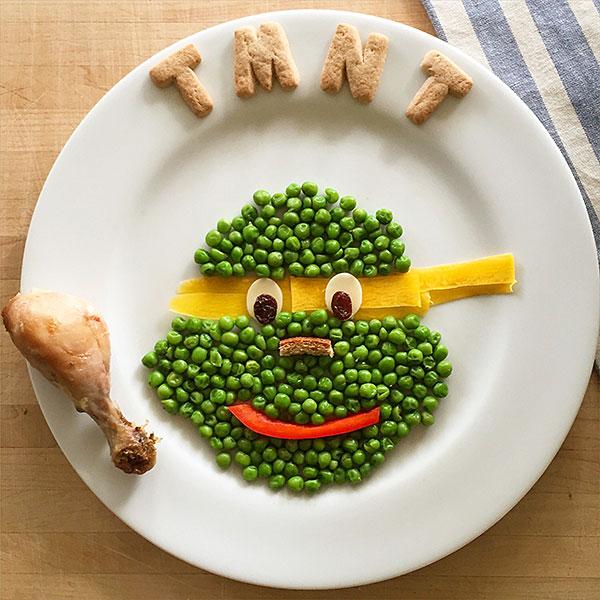 Teenage Mutant Ninja Turtles as food art by Marie Saba on foodiecrush.com