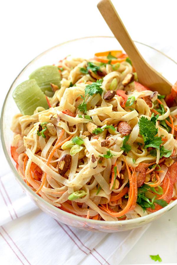 Thai Coconut Noodle Salad | foodiecrush.com #cold #spicy #recipe #healthy #easy